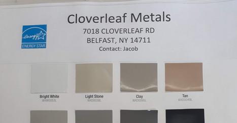 Cloverleaf Metals - Color Swatches