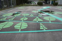 Decoration on asphalt