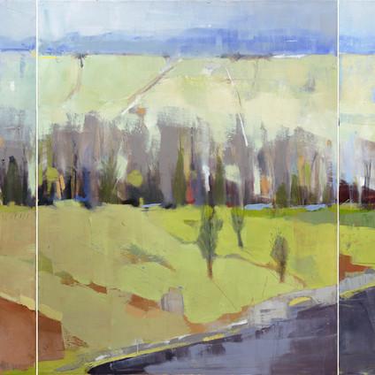 """Stubble Field   Oil on Canvas   30""""x72"""""""