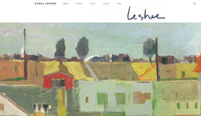 Carol Lesher website