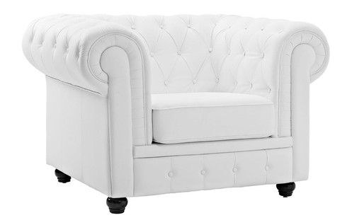 Ordinaire JASPER CLASSIC VICTORIAN CHESTERFIELD BONDED LEATHER CLUB CHAIR, WHITE