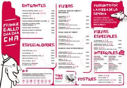 menu sala frankie gallo cha cha cha