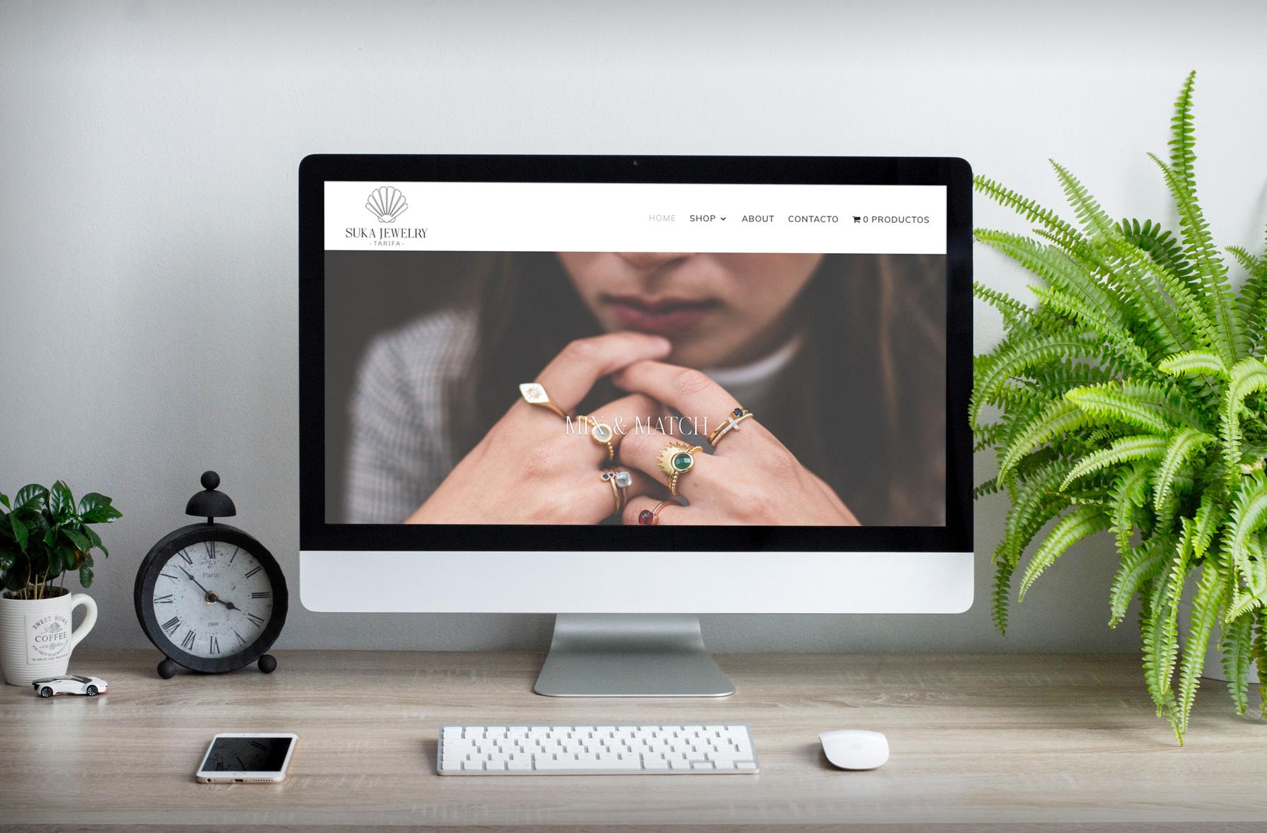 Web ecommer Suka Jewelry Piña Studio