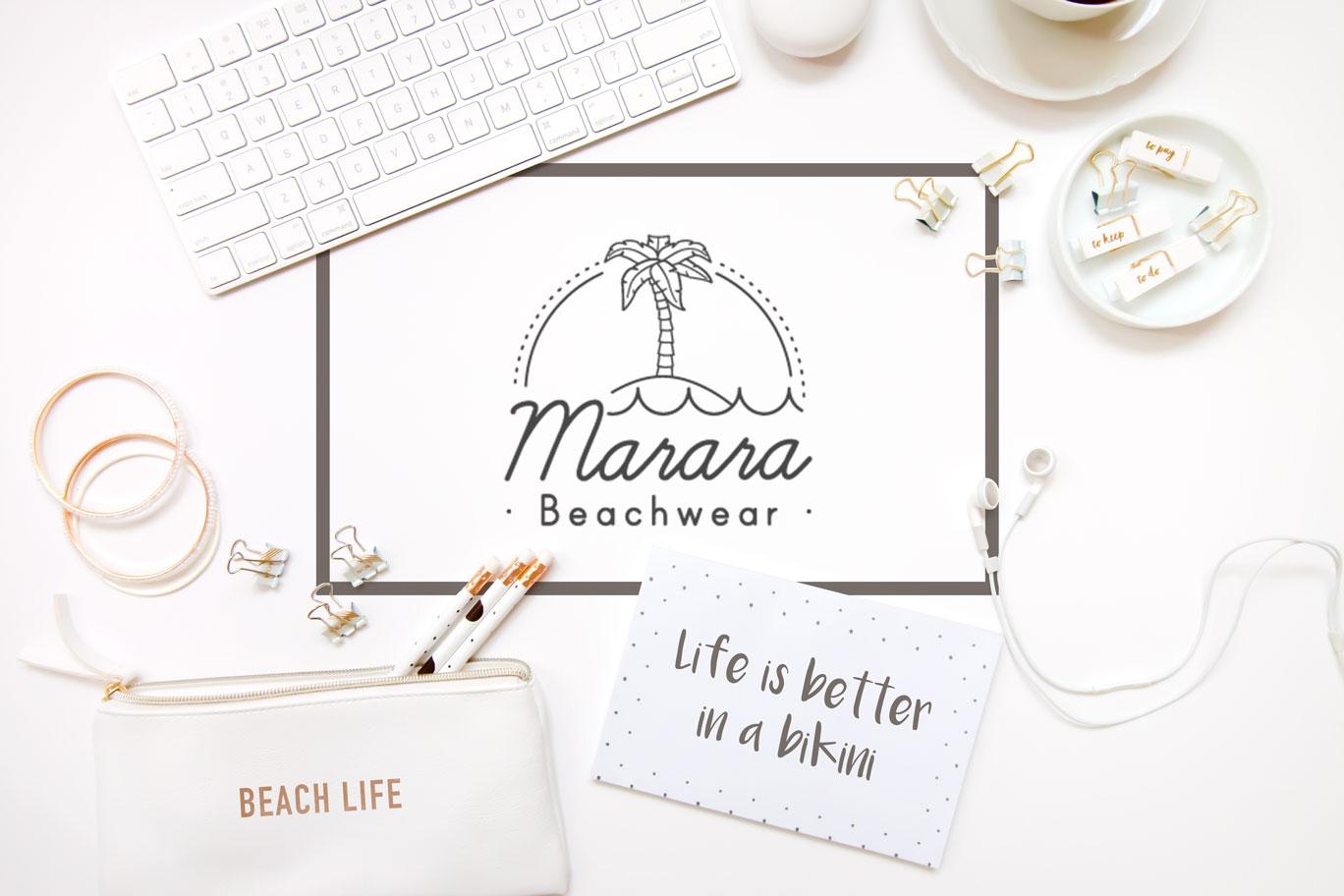 marara beachwear branding Piña Studi