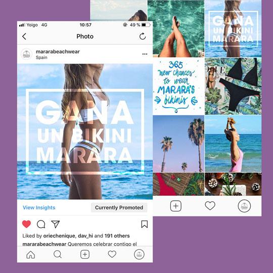 marara beachwear social media