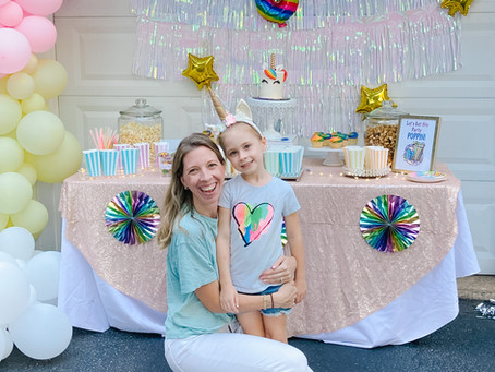 Rainbows & Unicorns...the ultimate 6th birthday party (Covid-19 Style)