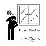 ES Inspection, NY-Broken window