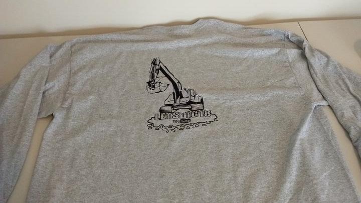 Sports Grey Long Sleeve Shirt