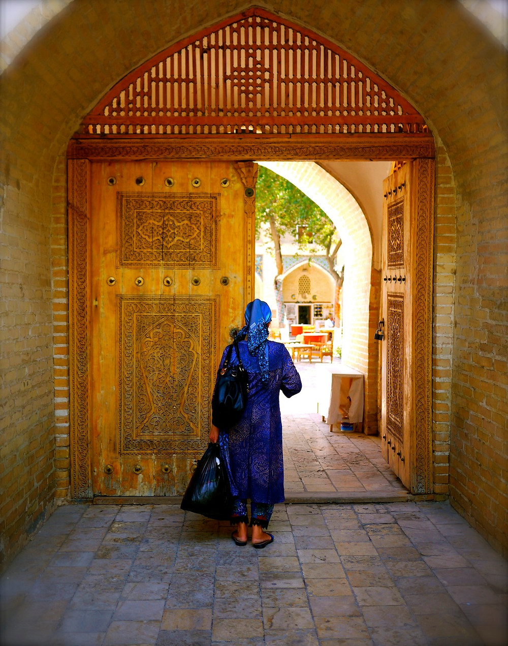 Entrance to local markets in Bukhara