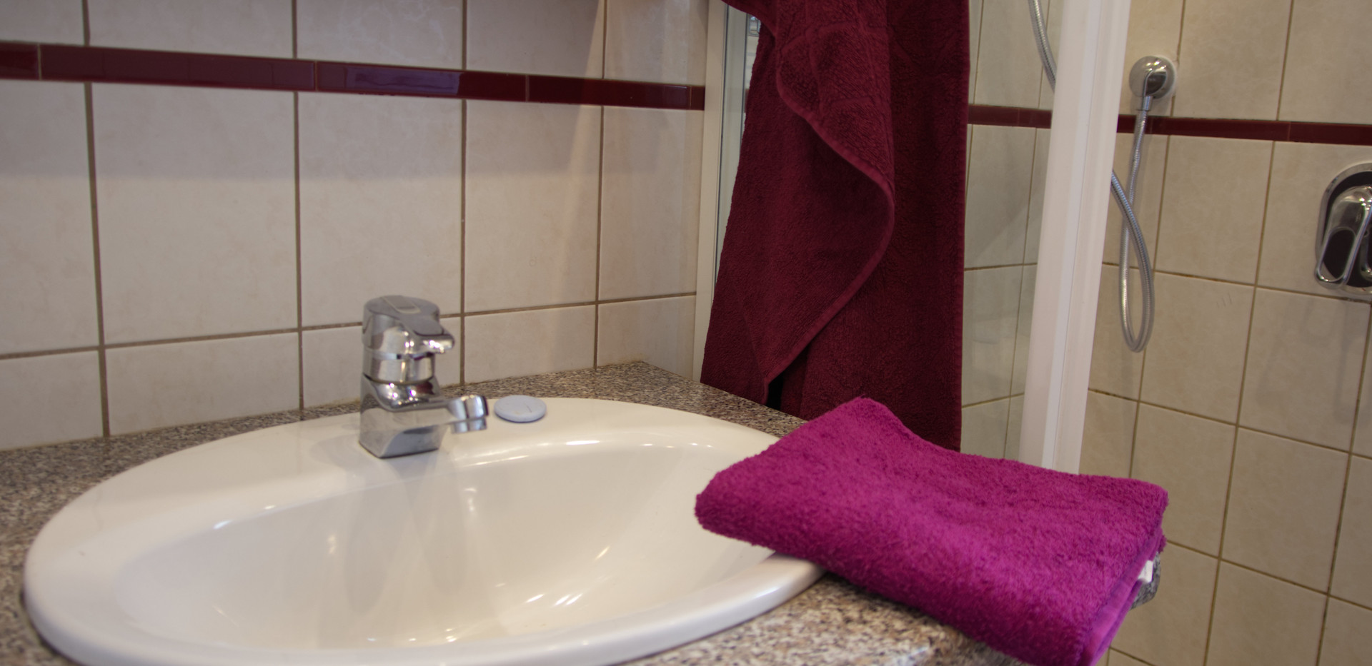 Handtücher werden gestellt