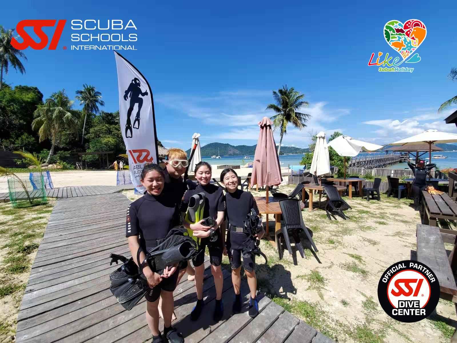 Diving in Sepanggar Island in SSI