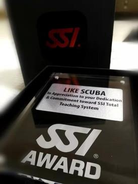 SSI Award to Like Scuba Center