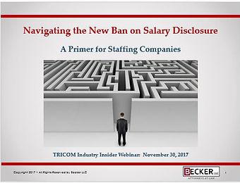 Navigating New Ban on Salary Disclosure.