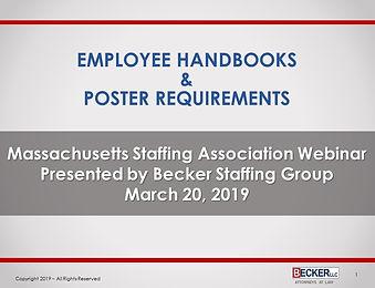 Employee Handbook and Poster Presentatio