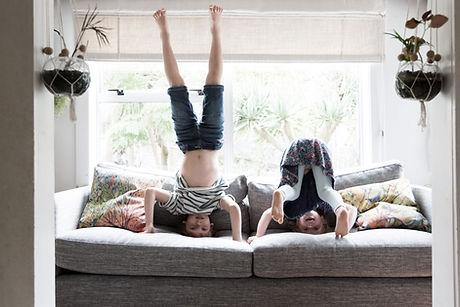 Kids on a sofa