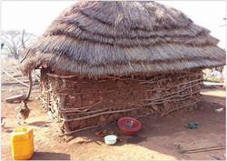 Travel Africa mud hut