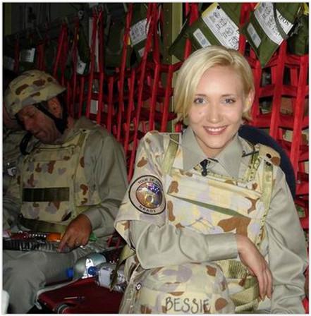 Bessie Barker in Iraq