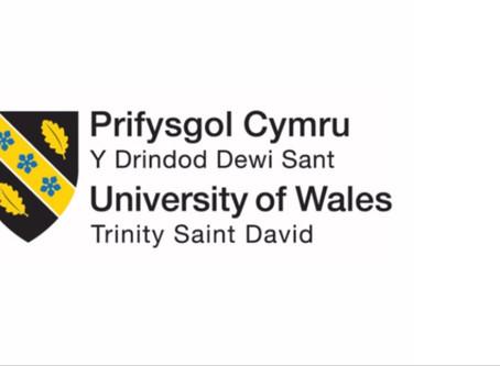 Congratulations to the University of Wales Trinity Colege Saint David's