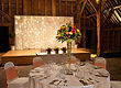Priory Barns, Starlight backdrop and table centre's.
