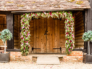 Priory Barn Flowered Arch