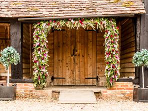 Priory Barn Flowered Arch