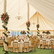 Marquee, table centre's and support column decoration