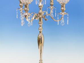 Crystal globe candelabra