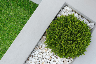 White Pebbles Add Beauty, Prevent Weed