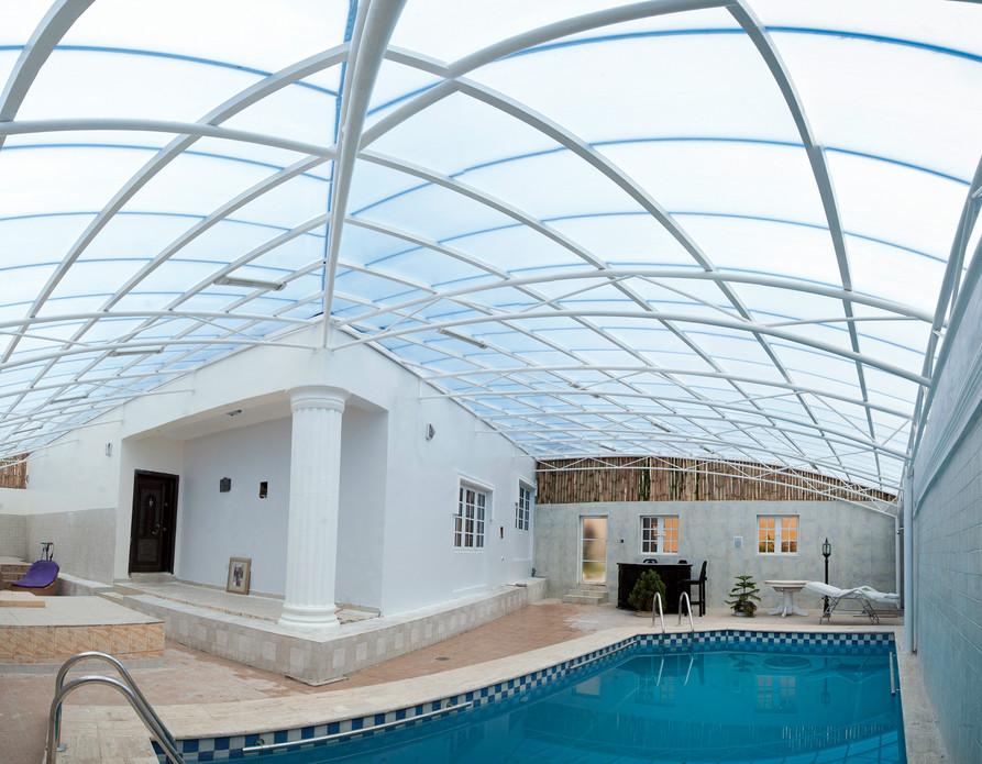 Pool side canopy at Jabi, Abuja