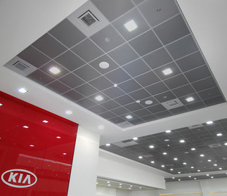 Kia Auto Sales Ceiling and Panels