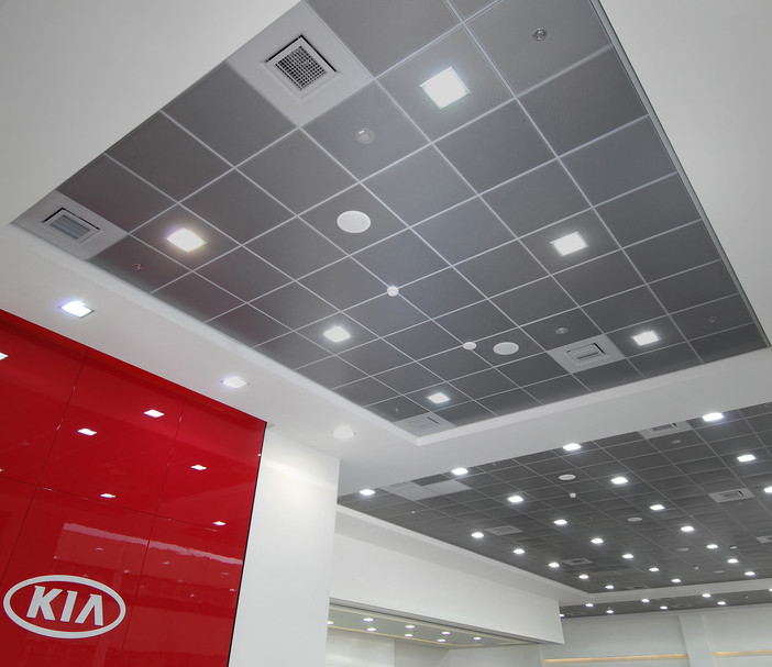 Kia Auto Sales Ceiling and Panels