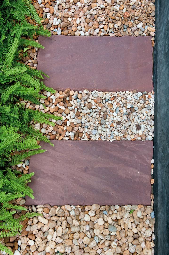 Slate Slabs, Rainbow Pebbles and Gravel