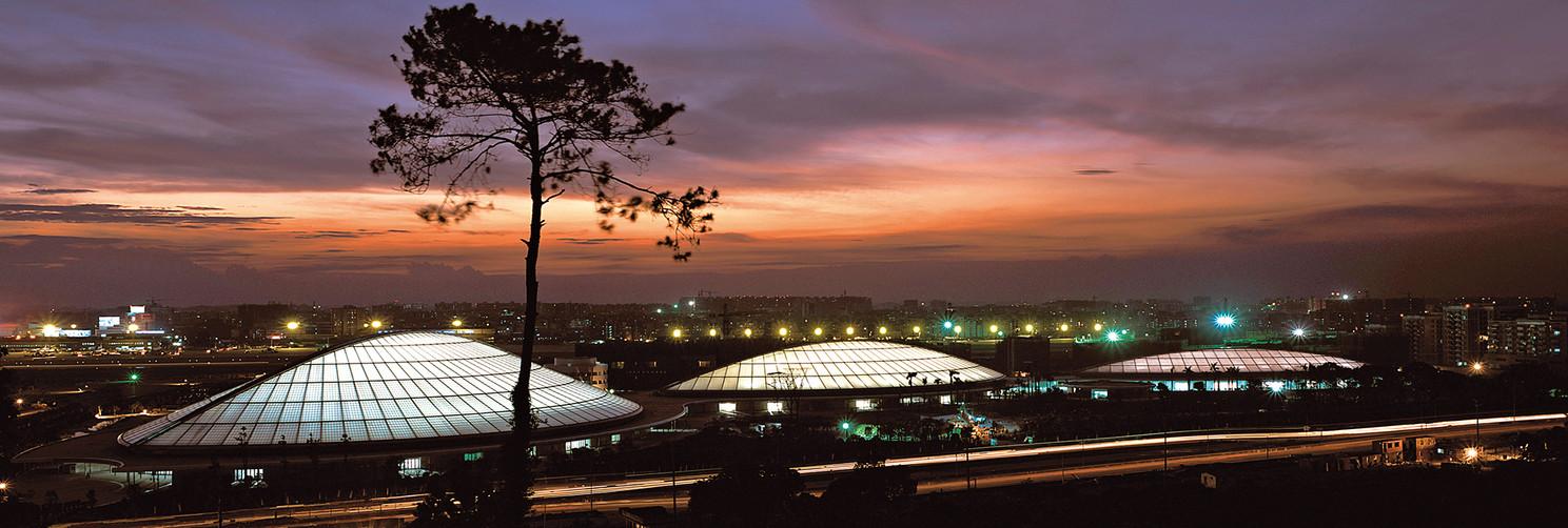 Guangzhou Gymnasium at night