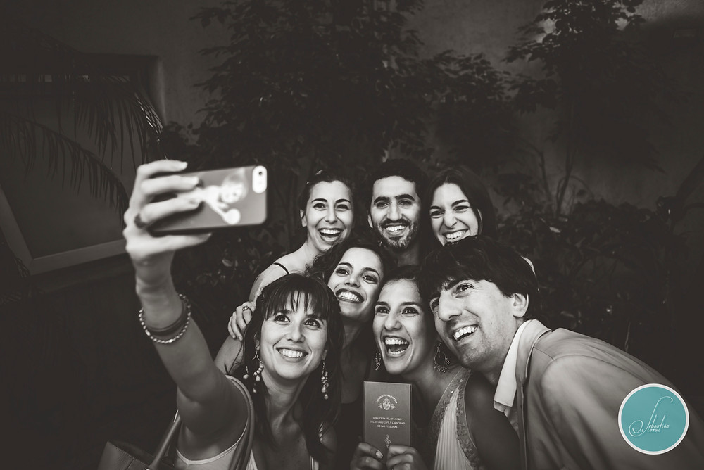 Wedding selfies. Bodas