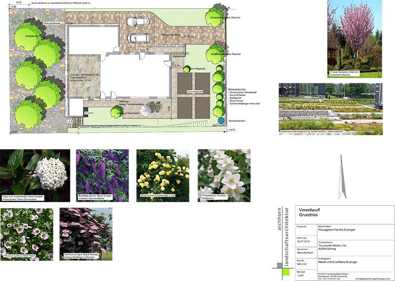 privatgarten entwurf