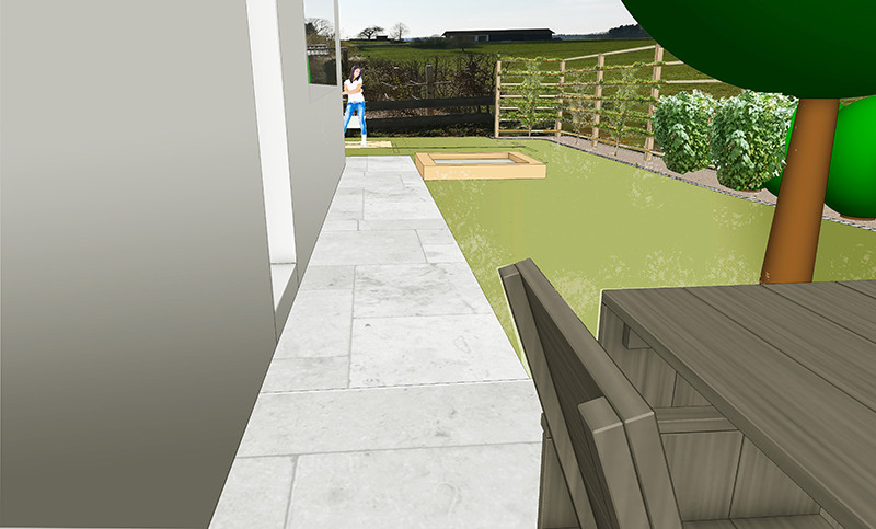 privatgarten 3d-skizze
