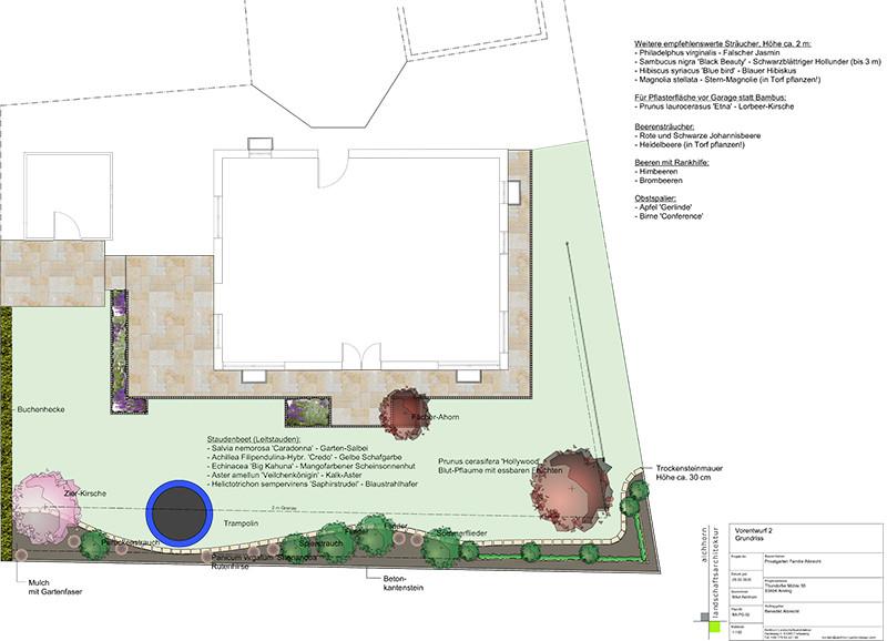 privatgarten vorentwurf