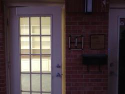 Front door of studio