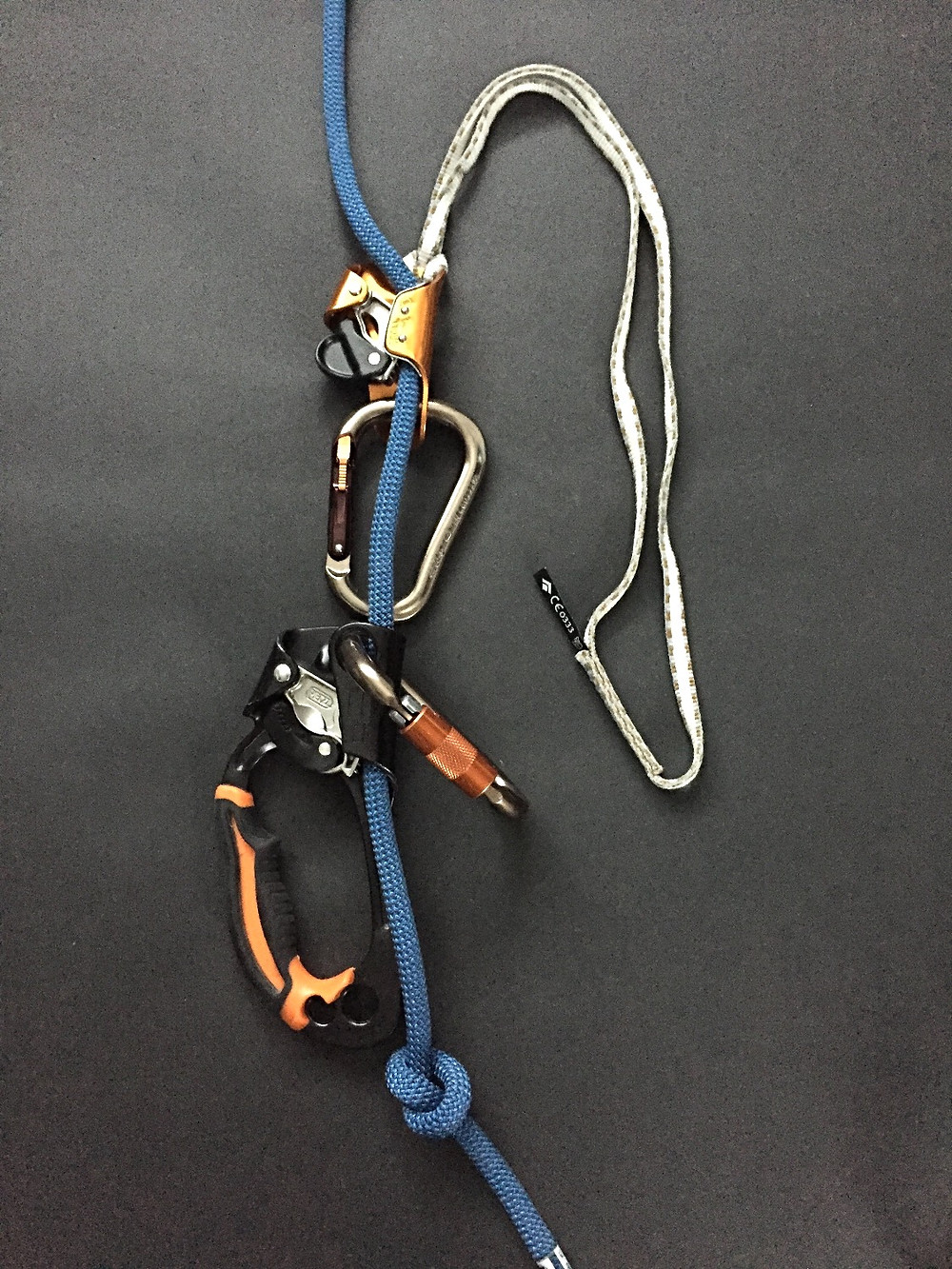 solo ice climbing system