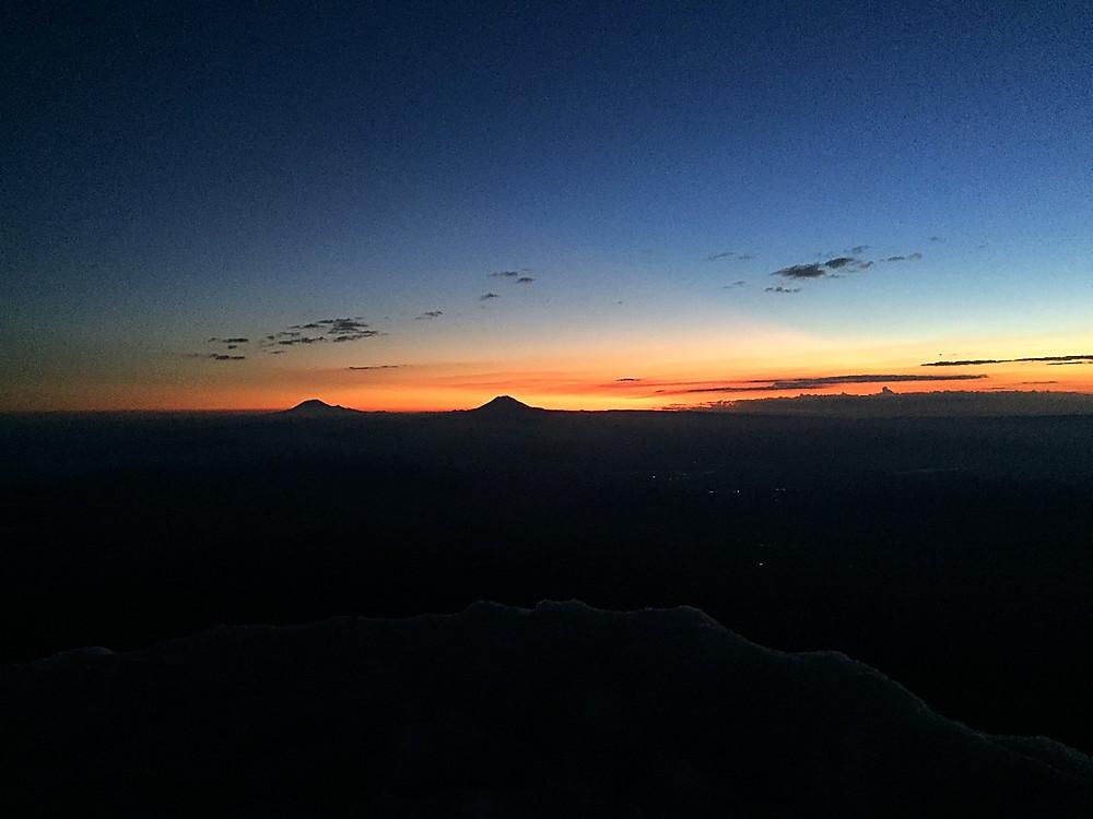 Mt. Adams and Mt. Rainier