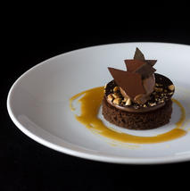 Chocolate, hazelnut, burnt honey