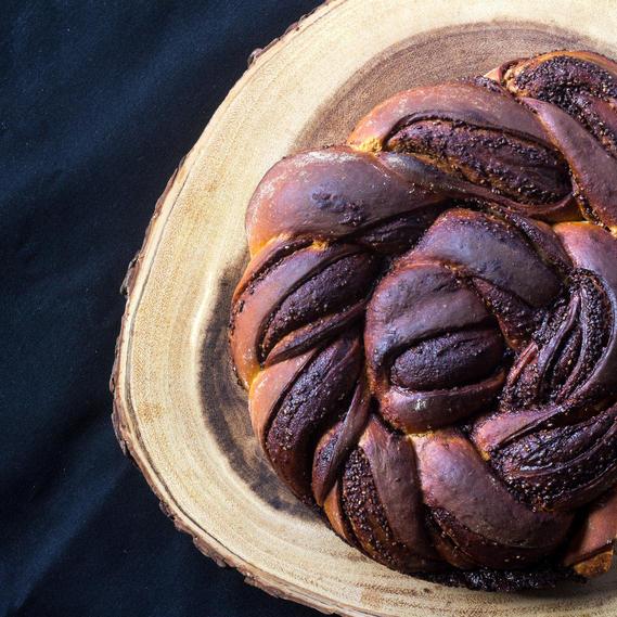 Chocolate chia seed babka