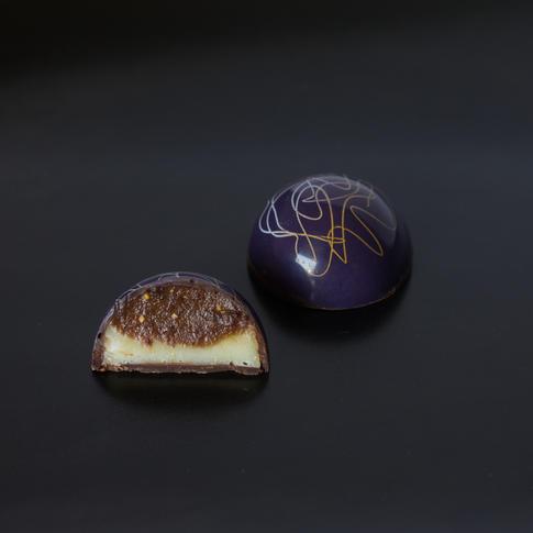 Truffle, honey, and fig bonbon