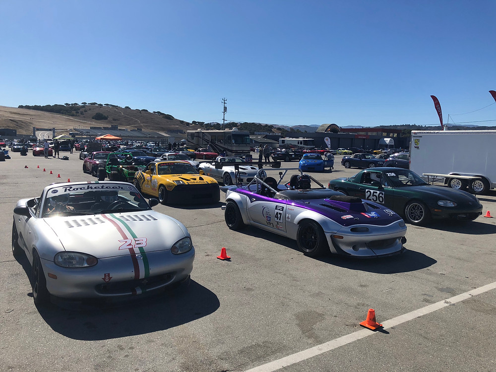 Rocketeer MXV6 built by Rocketworks Sport Cars and Eric Jones Motorsports at Miatas at Laguna Seca 2018