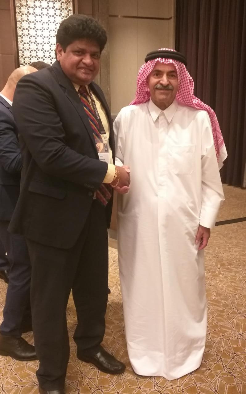 Dr.Chula with the President FIBA Asia Sheikh Saud Bin Al Thani