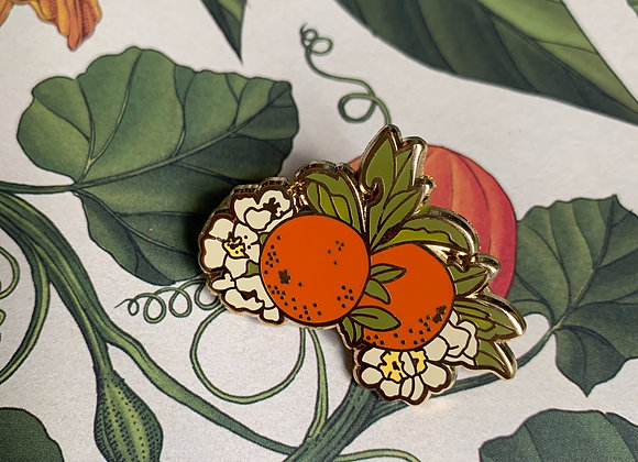 Orange Blossom Enamel Pin