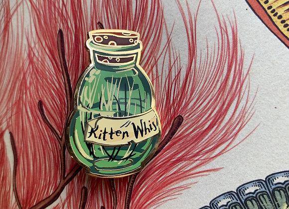 Kitten Whiskers Bottle Pin