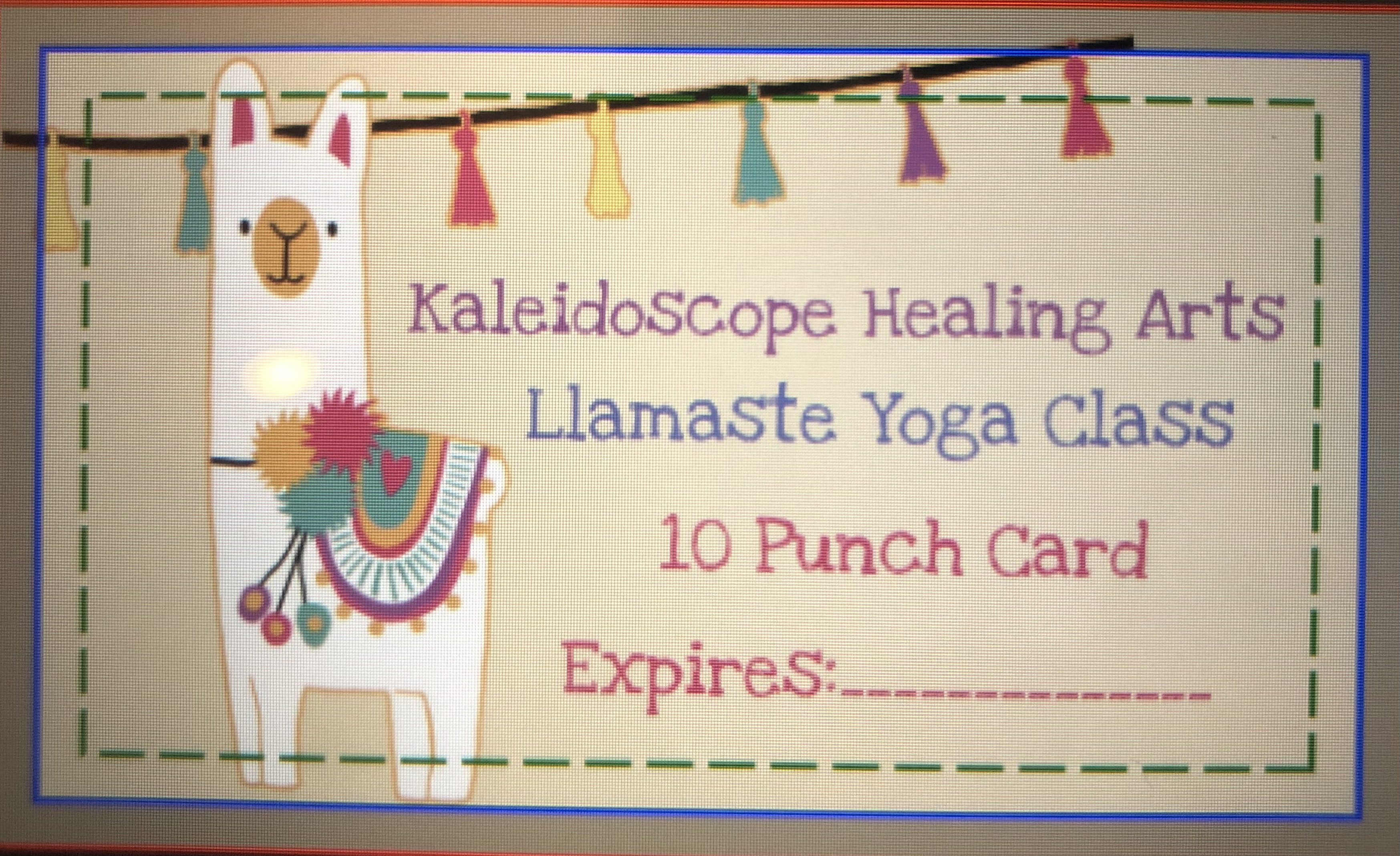 Llamaste Yoga Punch Card ($50.00)
