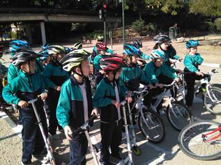 1º y 2º de primaria realizan la excursión de seguridad vial