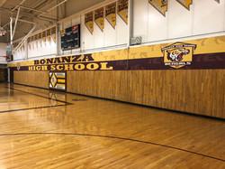bonanza high school gym wrap banner